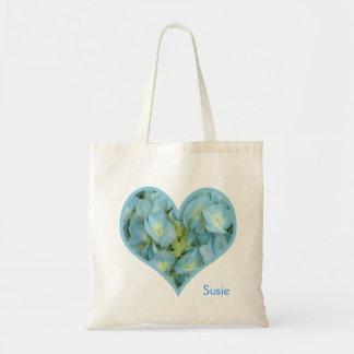 Vanlig hortensiahjärta tygkasse