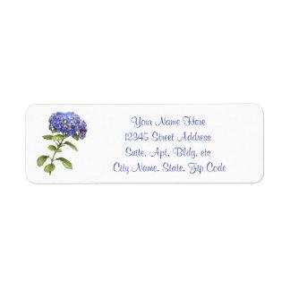Vanlig hortensiaretur returadress etikett