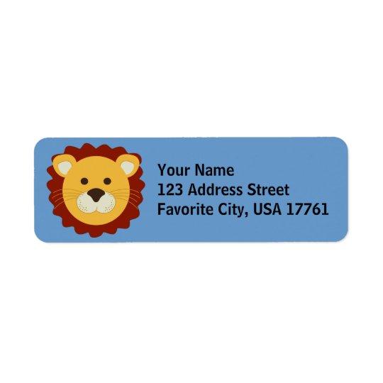 Vänlig lejon adressetiketter