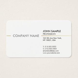 Vanlig minsta modern yrkesmässig elegant vit visitkort