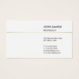Vanlig modern yrkesmässig elegant vit för visitkort