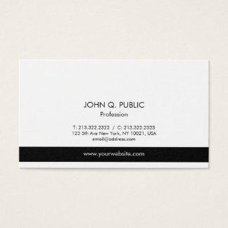 Vanlig modern yrkesmässig elegantsvartvit visitkort