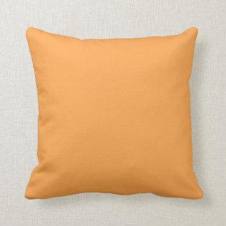 Vanlig orange dekorativ kudde