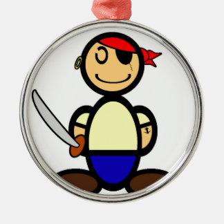 (Vanlig) pirat, Julgransprydnad Metall