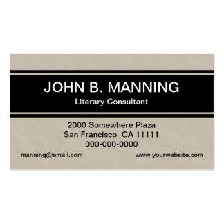 Vanlig professionellsolbränna och svart rand set av standard visitkort