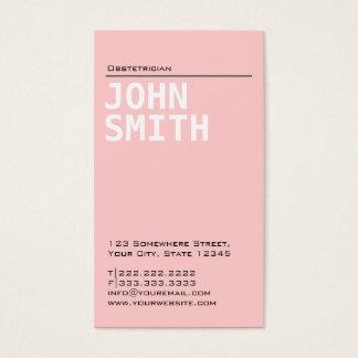 Vanlig rosa Obstetricianvisitkort Visitkort
