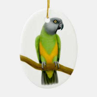 Vänlig Senegal papegojaprydnad Julgransprydnad Keramik