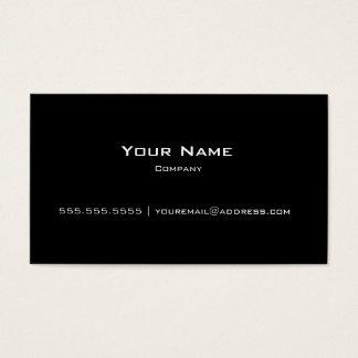 Vanlig svart modern personlig/företagsvisitkort visitkort