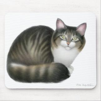 Vänlig tabby katt Mousepad Musmatta