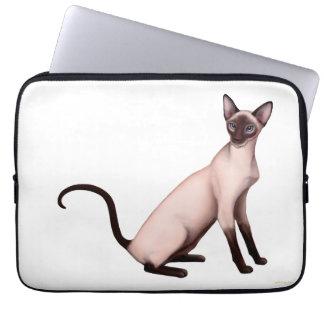 Vänlig ung Siamese kattelektroniksleeve Laptop Sleeve