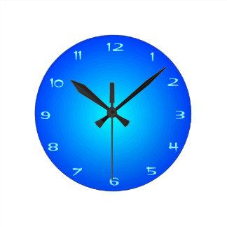 Vanliga blått med Aqua centrerar   > kök tar tid Rund Klocka