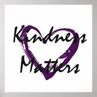Vänligheten betyder hjärta affischer