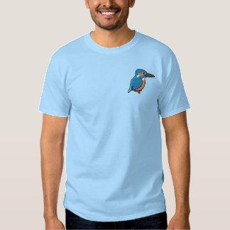 Vanligt Kingfisherbroderi Broderad T-shirt