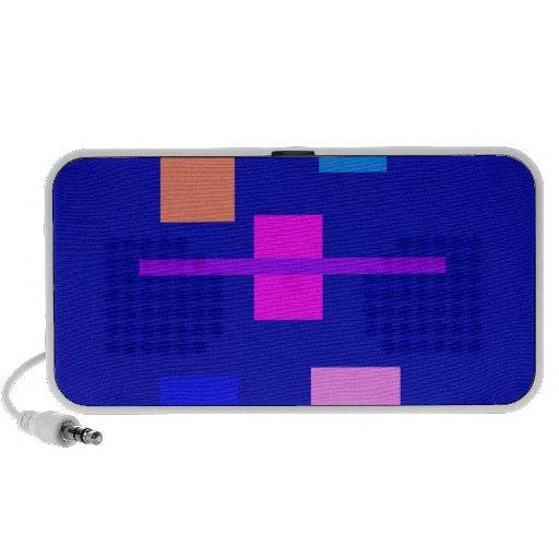 Vänmörk - blått laptop speakers