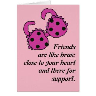 Vännen är lika behå hälsningskort