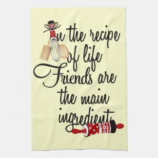 Vänner är den huvudsakliga ingredienskökshandduken kökshandduk