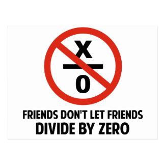 Vänner delar inte vid nolla vykort