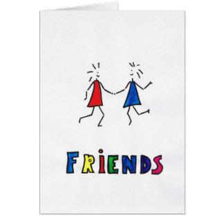 vänner hälsningskort