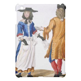 Vanor av balladsångare, c.1675 (färgad engravi iPad mini skal
