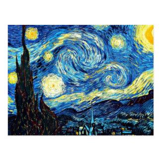 Vans Gogh berömda målning, Starry natt Vykort