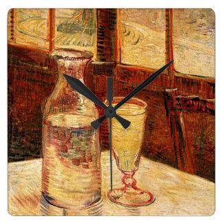 """Vans Gogh """"exponeringsglas av Absinthe och en Fyrkantig Klocka"""
