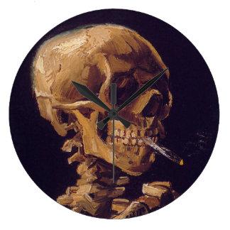 """Vans Gogh """"skalle med en brinna cigarett"""" tar tid Stor Rund Klocka"""