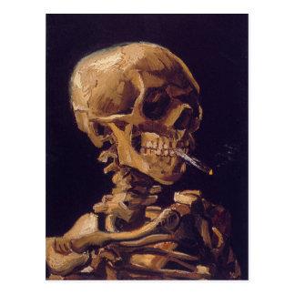 """Vans Gogh """"skalle med kortet för brinna cigarett"""" Vykort"""