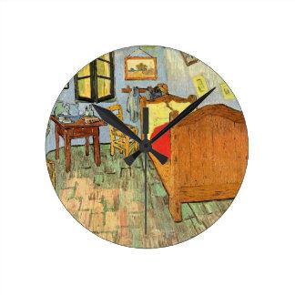 Vans Gogh sovrum Rund Klocka