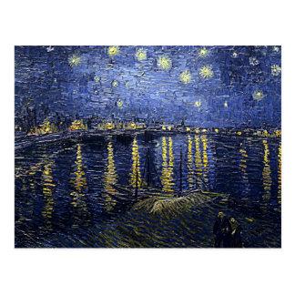 """Vans Gogh """"Starry natt över Rhone"""" vykort"""