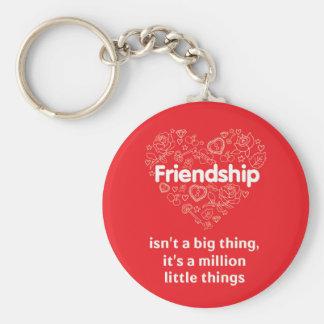 Vänskap är keychain för citationstecken för miljon rund nyckelring