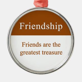 Vänskap bör uppskattas julgransprydnad metall