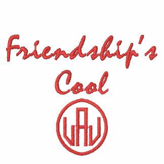 Vänskap coola broderad Hoodie för damvinande