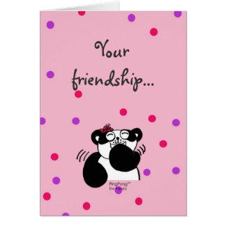 Vänskap Hälsningskort