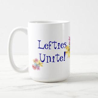 Vänsterhänt blom- konst för Lefties Kaffemugg
