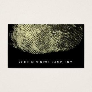 Vänt om kretsa identifierar med fingeravtryck visitkort