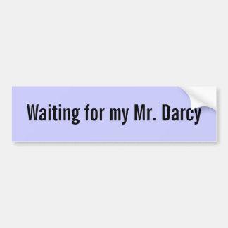 Vänta min Herr skräddarsy Darcy - Bildekal