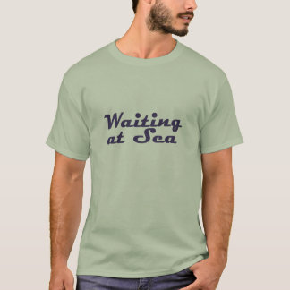 Vänta på havslogotypskjortan t-shirt
