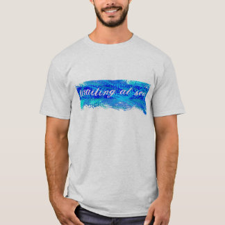 Vänta på skjortan för havsblåttSplotch Tee