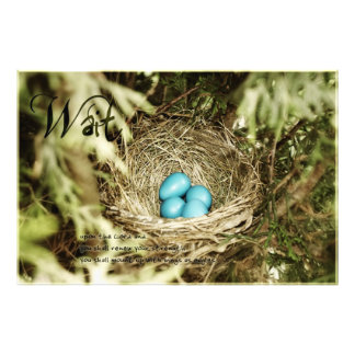 Väntande ägg fototryck