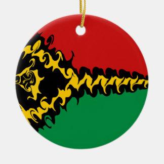 Vanuatisk Gnarly flagga Rund Julgransprydnad I Keramik