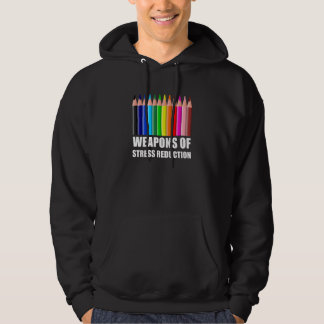 Vapen av färgläggningen för spänningsförminskning sweatshirt