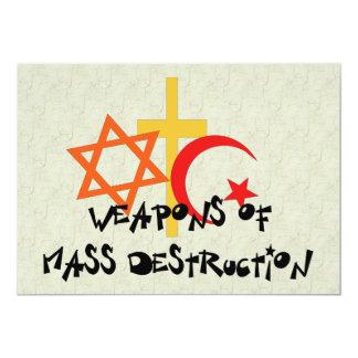 Vapen av samlas förstörelse 12,7 x 17,8 cm inbjudningskort