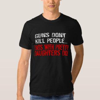 Vapen dödar inte folk, rolig pappa/dotter tröja