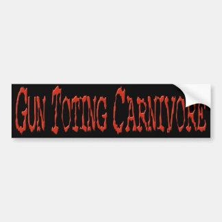 Vapen som bär på den röda Carnivorebildekalet Bildekal