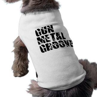 Vapenmetall räfflar den älsklings- skjortan hundtröja