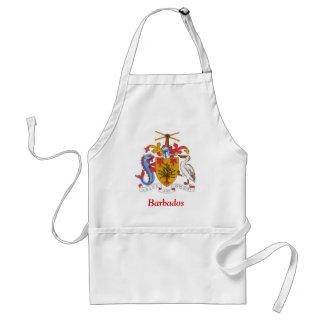Vapensköld av Barbados Förkläde
