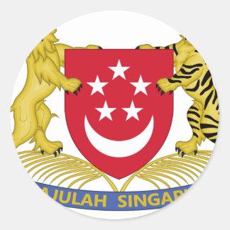 Vapensköld av den Singapore 新加坡国徽emblemen Runt Klistermärke