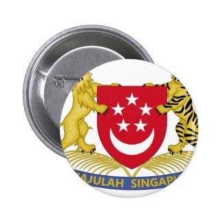 Vapensköld av den Singapore 新加坡国徽emblemen Standard Knapp Rund 5.7 Cm
