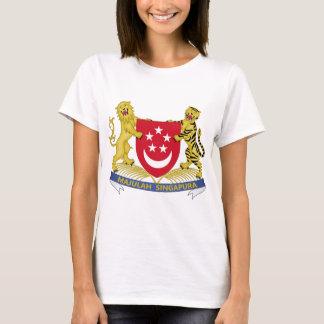Vapensköld av den Singapore 新加坡国徽emblemen T Shirt