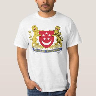 Vapensköld av den Singapore 新加坡国徽emblemen Tee Shirts